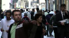 Close Up View of People in Centro de Sao Paulo, Brazil 2 - stock footage