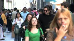 Close Up View of People in Centro de Sao Paulo, Brazil 6 Stock Footage