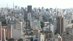 Aerial View of Sao Paulo s Densely Built Cityscape 5 Stock Footage