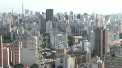 Aerial View of Sao Paulo s Densely Built Cityscape 6 Stock Footage