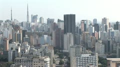 Aerial View of Sao Paulo s Densely Built Cityscape 7 Stock Footage