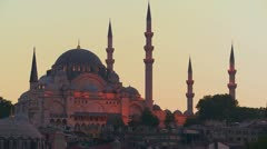 A beautiful mosque in Istanbul, Turkey. - stock footage