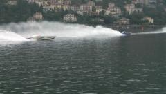 Offshore race 09 Stock Footage