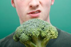 dislike broccoli - stock photo