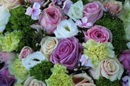 Purple, pink and white wedding centerpiece Stock Photos
