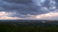 Brisbane super wide shot (dramatic sky) zoom in Stock Footage