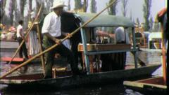 XOCHIMILCO Canals Boats Mexico City 1960s (Vintage Retro Film Home Movie) 4341 Stock Footage