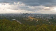 Brisbane super wide shot (dramatic sky) Stock Footage