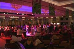 The Queen Mary 2, ocean liner, ballroom dancing in the Queen's Room Stock Footage