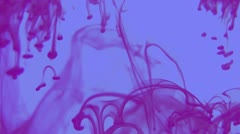 Ink Designs in Water Part 2 (Purple with Blue Background) Stock Footage