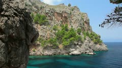 Clear crystal water, Mallorca Island, Balearic Islands, Spain Stock Footage
