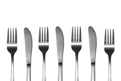 Forks and knives Stock Photos
