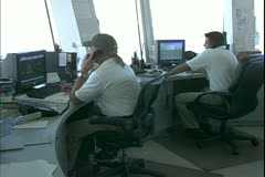 The  port control room, Port Everglades, Florida, close up, Queen Mary 2 Stock Footage