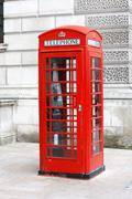 british telephone box - stock photo