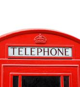 British telephone box Stock Photos