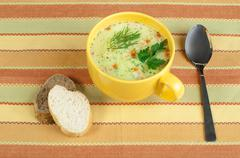 Stock Photo of chicken cream soup