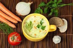 Chicken cream soup Stock Photos
