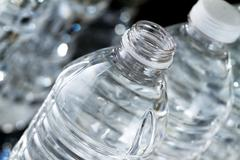 bottles of water - stock photo