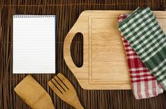 Notebook to write recipes Stock Photos