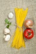 bundle of spaghetti - stock photo