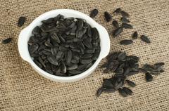 sunflower seed - stock photo