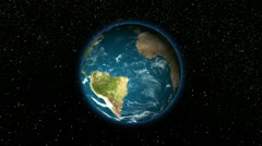 HD - Zoom in earth (through clouds to the space) - stock footage