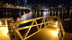 Hawthorne Bridge at Night Stock Footage