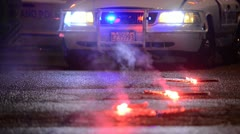 Police Flares 03 - stock footage