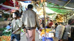 Local food market in Bagan, Burma - stock footage