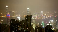 View of Hong Kong from Victoria Peak. Stock Footage