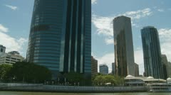 Skyscrapers in Brisbane (river shot) 3 Stock Footage