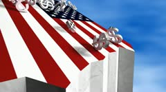 US fiscal cliff, concept, economy, meltdown, crisis. - stock footage