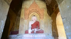 Buddha statue tracked video - stock footage