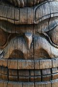 Totem Pole Detail - stock photo