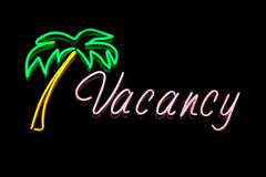 Stock Photo of Neon Vacancy Sign