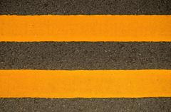 Double yellow lines Stock Photos