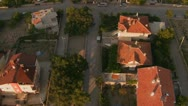 Stock Video Footage of A slow aerial perspective over a neighborhood.