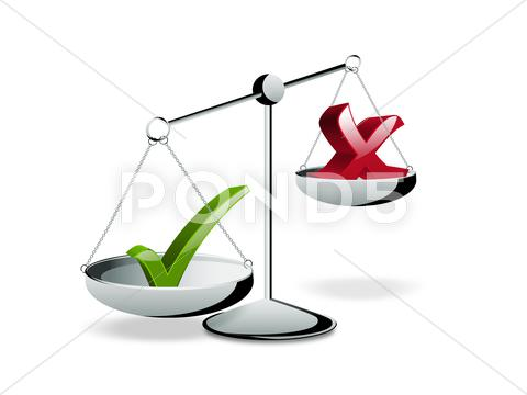 Stock Illustration of right choice