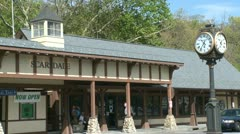Scarsdale train station (12 of 12) Stock Footage