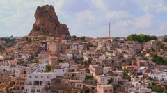 A village in Central Turkey in the region of Cappadocia. - stock footage