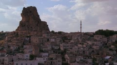 Time lapse of a village in Central Turkey in the region of Cappadocia. - stock footage