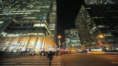 New York City Manhattan midtown time lapse crowd walking fast timelapse Stock Footage