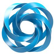 blue abstract shape - stock illustration