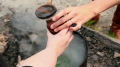 Tea time - stock footage
