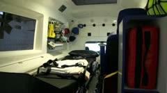 Inside ambulance - stock footage