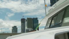 View from CityCat in Brisbane (3) Stock Footage