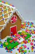 Little gingerbread house Stock Photos