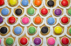 Colorful candy decoration Stock Photos