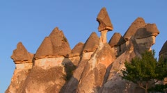 Stock Video Footage of Bizarre geological formations at Cappadocia, Turkey.