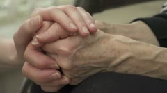 comforting hands - stock footage